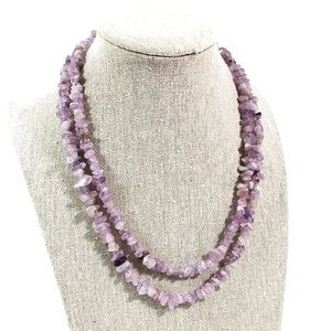 Vintage Spinal and amethyst stone necklace